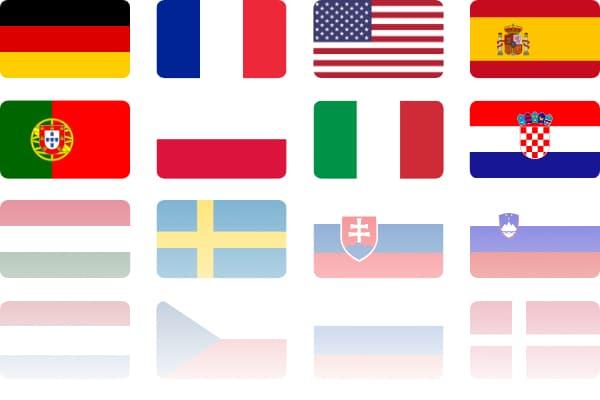 Gebrauchtmaschinen in 20 Ländersprachen